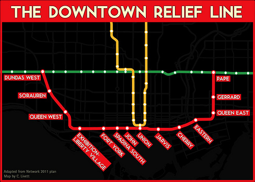 Ttc Subway Map Future.Lorinc The Dueling Plans For The Downtown Relief Line Spacing Toronto