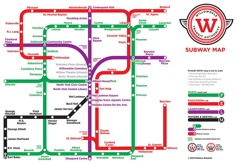 Matthew Blackett Canada Map Introducing the Willowdale Transit Authority   Spacing Toronto