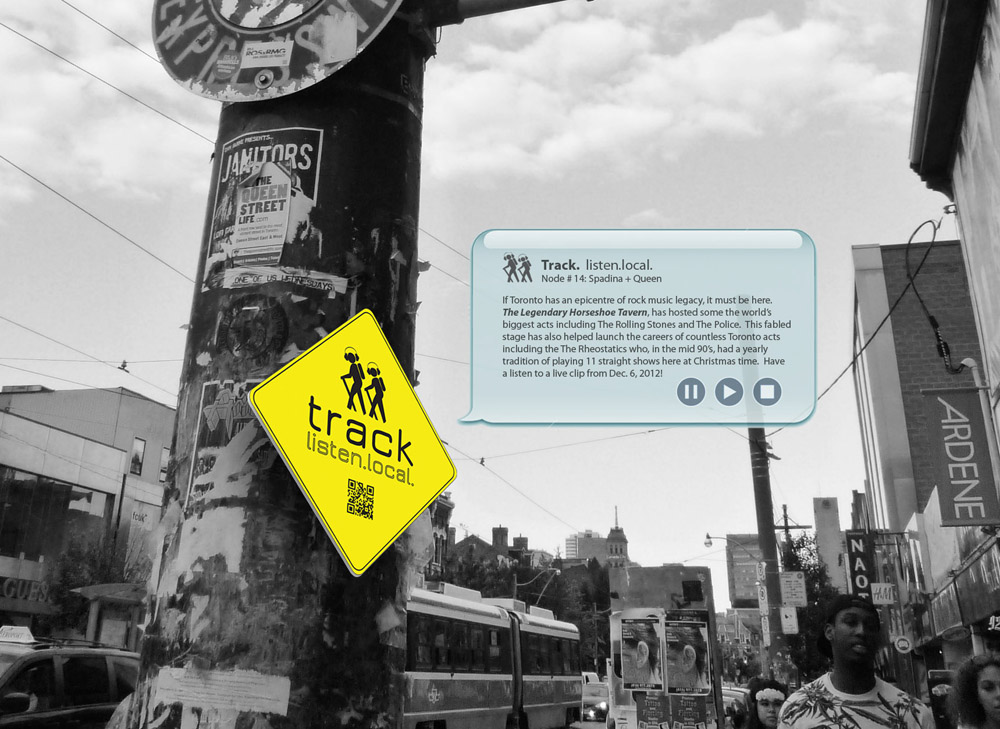 New project — Track. listen.local. — set to collect and map songs about Toronto with your help