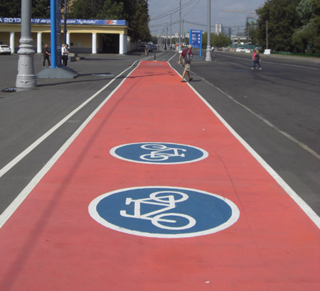 Moscow bike lanes