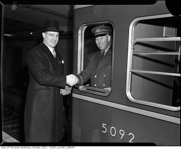 Opening of the Yonge Subway 1954 City of Toronto Archives