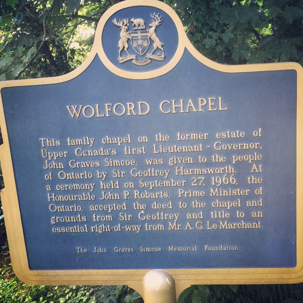 WolfordChapel-Plaque