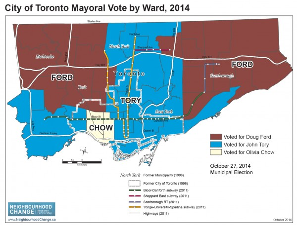 2014 Mayoral Vote and INCOME and THREE CITIES - Table and NCRP 4 maps-4
