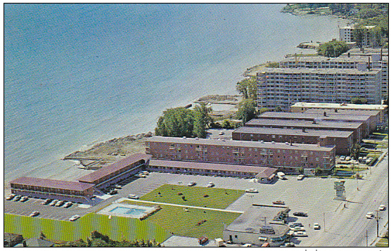 Mimico's lakeside Westpoint Motor hotel stands alongside mid-century low rise apartment buildings