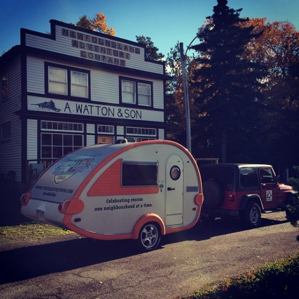 The Storymobile in Pasadena, Newfoundland