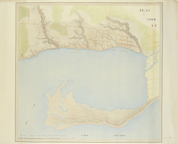 A map of Toronto from 1817 shows many streams running through what is now downtown. From oldtorontomaps.blogspot.ca