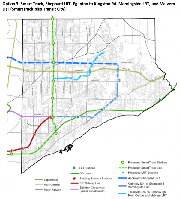scarborough subway option 3 map