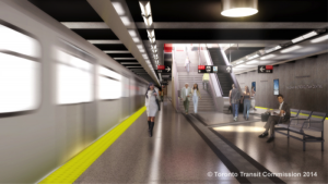 Rendering of Vaughan Metropolitan Station Reproduced with the permission of the Toronto Transit Commission