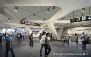 Rendering of York University Station Reproduced with the permission of the Toronto Transit Commission