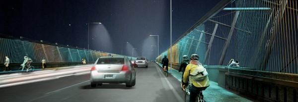 luminous veil - PEV Light Installation_Bridge Deck_Dereck Revington Studio