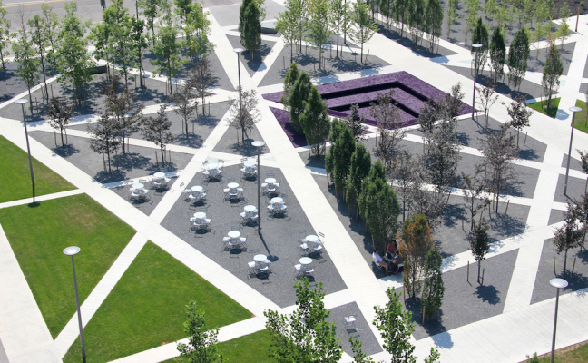 Creating places for people as we grow spacing toronto for Landscaping ideas for triangular area