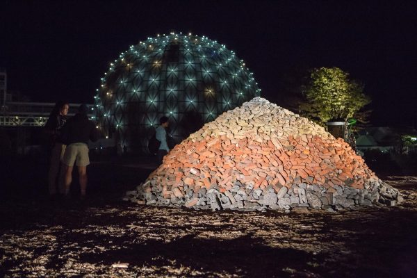 in/future installation Rubble Pile by Ben Watt-Meyer, presented in the Ontario Place, 2016. Photo by Andrew Williamson.