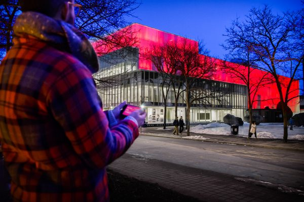 Public Visualization Studio, In The Air Tonight (2014), Ryerson University. Photo: Maggie Chan, courtesy of Public Visualization Studio.