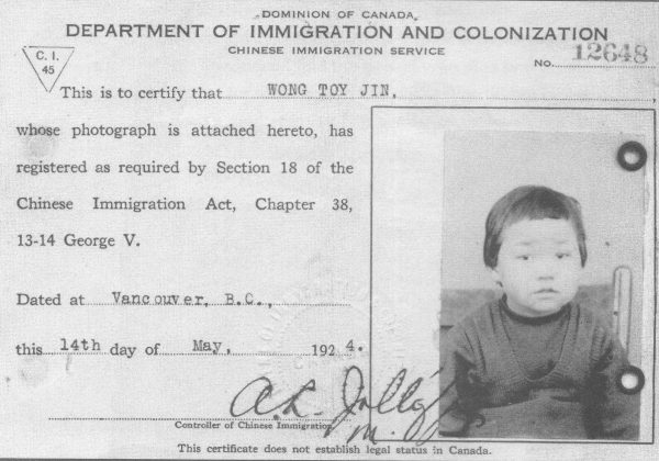 Bringing the chinese canadian archive into view spacing toronto - Bureau immigration canada ...
