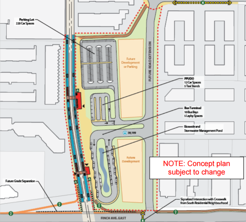 Plan for Finch East GO Station