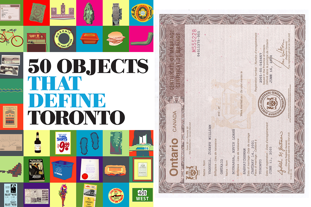 50 Objects That Define Toronto Marriage Certificate Of First Legal
