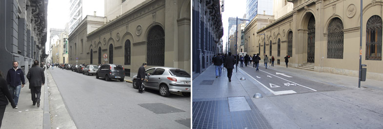 Before and after in Buenos Aires' Microcentro