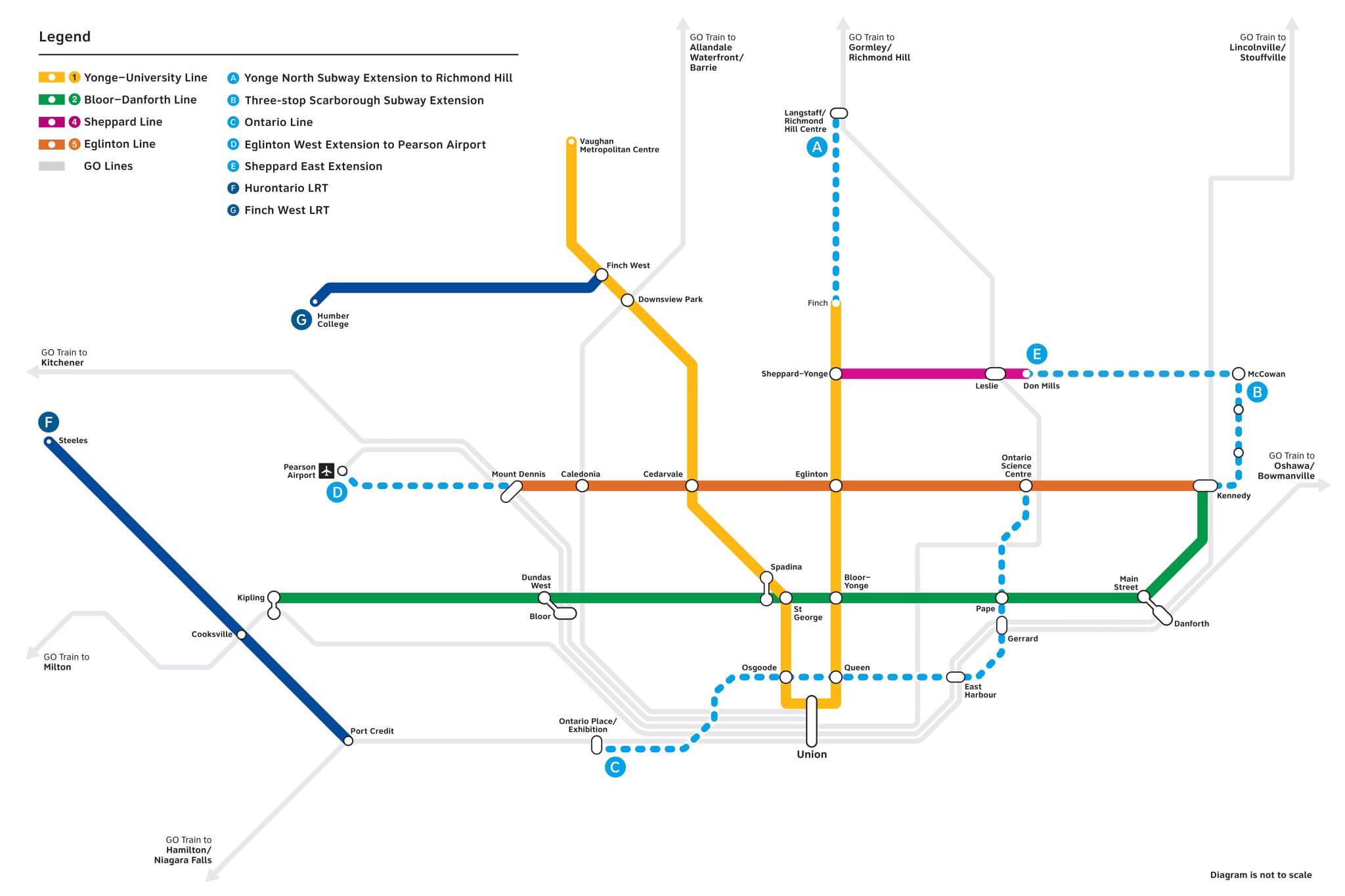 Toronto Subway Map.Lorinc Doug Ford Draws A Subway Map Spacing Toronto