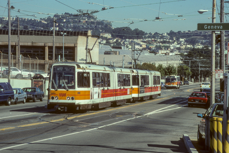 Two Boeing LRVs in San Francisco (photographer unknown)