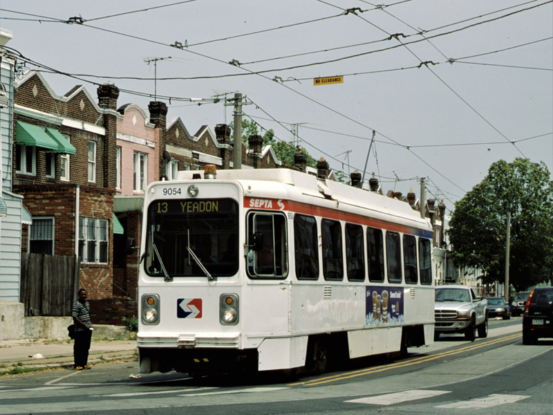 A Kawasaki trolley in West Philadelphia (photo: Rob Hutchinson)