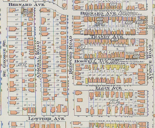 Goad's Atlas, 1910, including Bedford Road