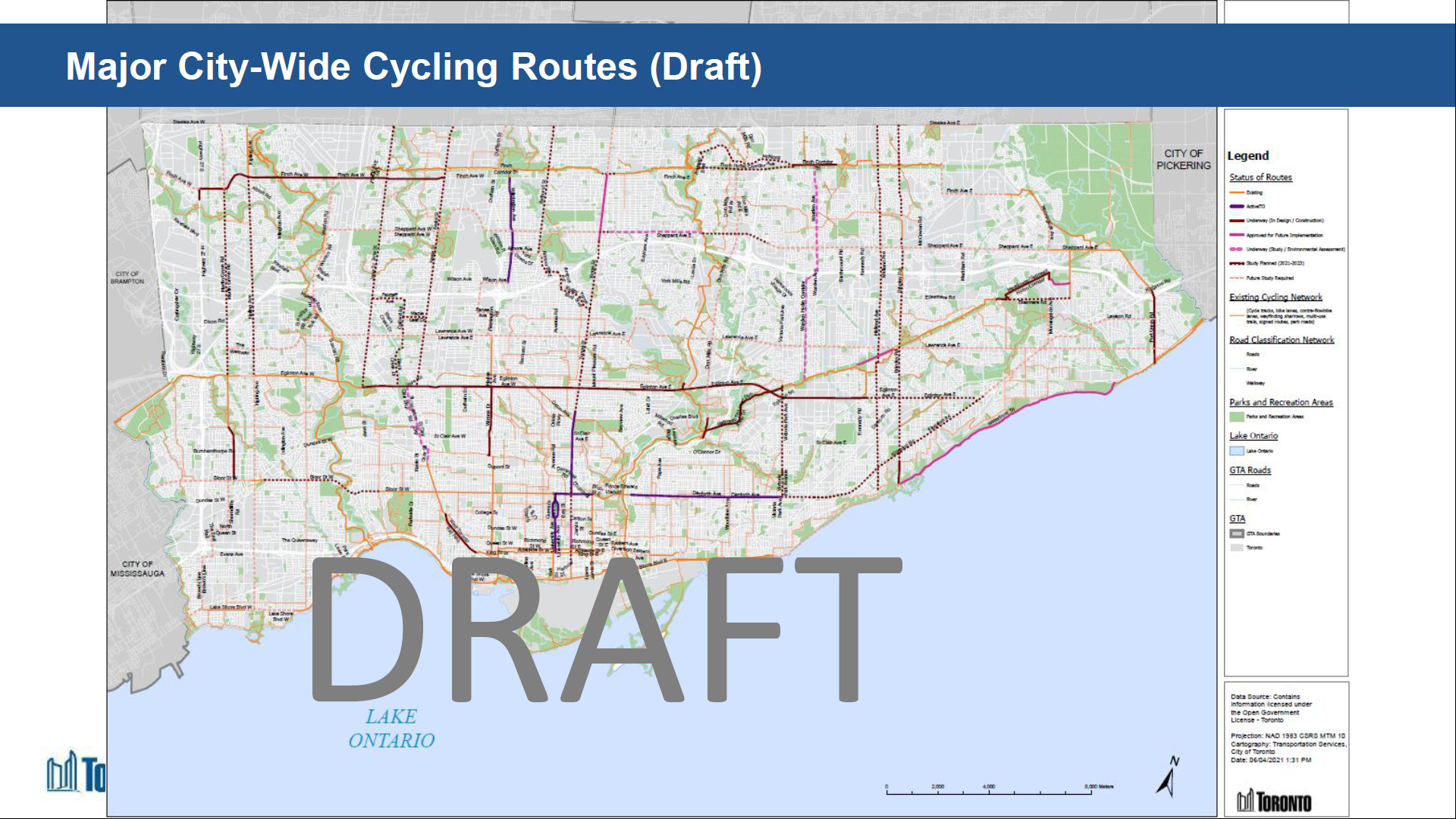 2021 Cycling Plan Presentation - City-Wide Network Update