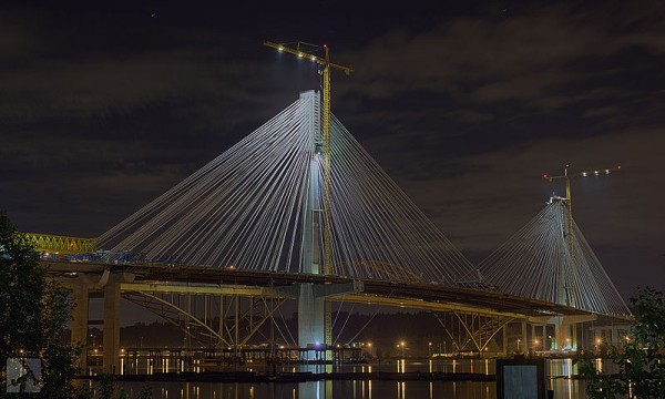 The costly Port Mann Bridge replacement was designed to impress, but unfortunately not to work. [Photo: Torben Hansen]