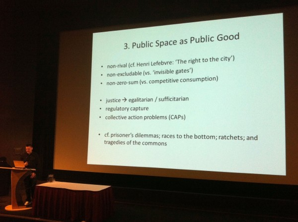 Mark Kingwell argues that public space is not a public good - but that it is a commons good.
