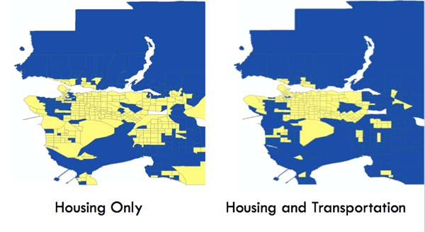 Affordability Comparison map.