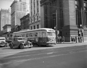 CVA 586 PCC street car June 1945