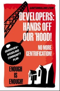 Posters designed to oppose a  high-rise tower in my neighbourhood.
