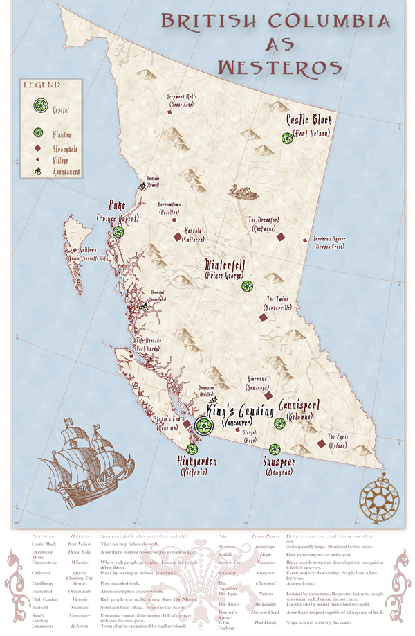 Cartographically Speaking - British Columbia as Westeros ...