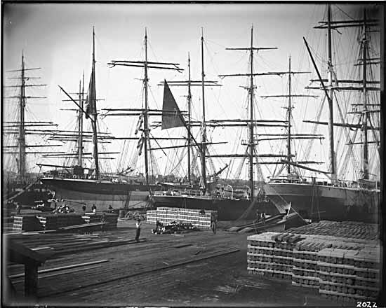 Photo credit: Ships loading at Hastings Mill. 1906. VPL 741