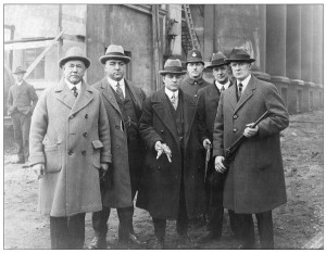 Joe Ricci (middle) and members of the VPD ca.1925. Photo courtesy of Louise Ricci.