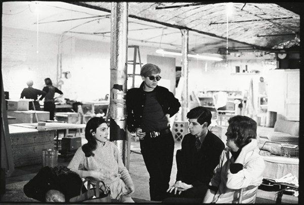 """Photo Credit: """"Andy Warhol at The Factory (ca.1967-1968)"""" www.phaidon.com"""