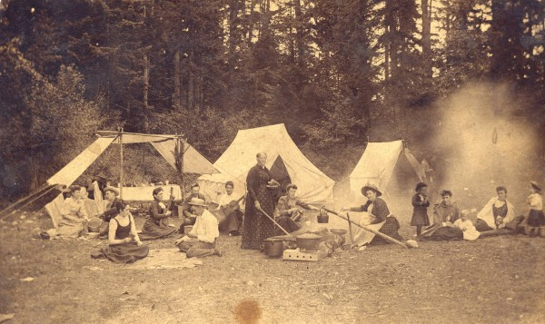 A family at their summer camp, 1890. CVA AM54-S4-: Out P377