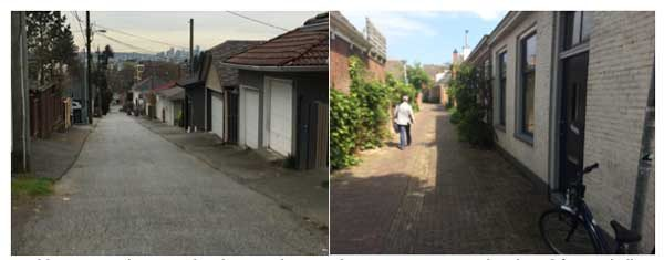 Can Vancouver laneways be places to do more than just store cars and garbage? (L: Mitchell Reardon, R: Lior Steinberg).