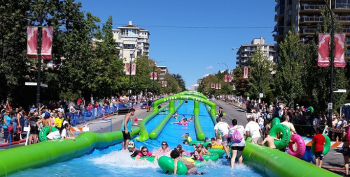 Slide the City event on Lonsdale Ave (Photo: Daily Hive)
