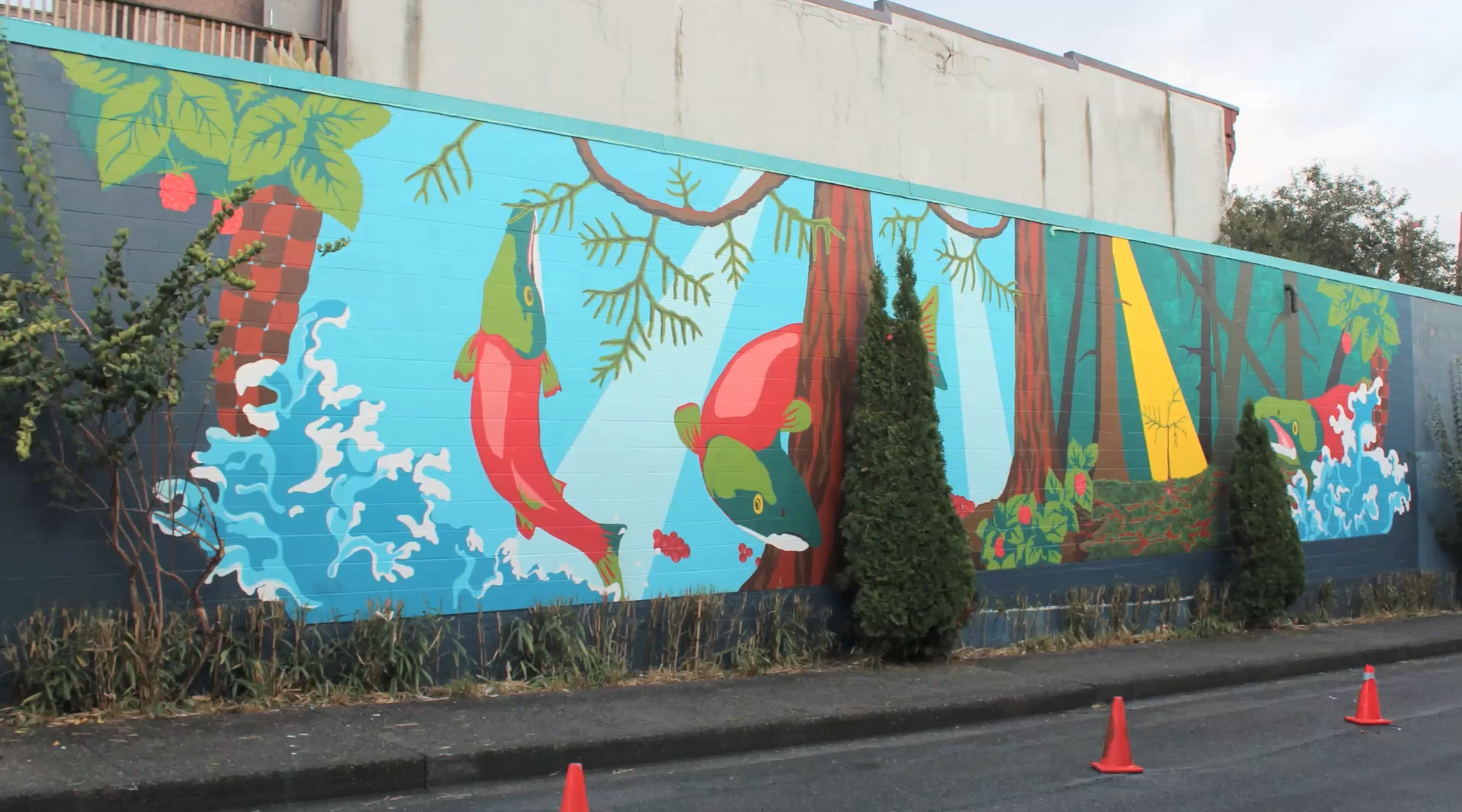 Video resilience nest community mural 2017 spacing for Mural vancouver