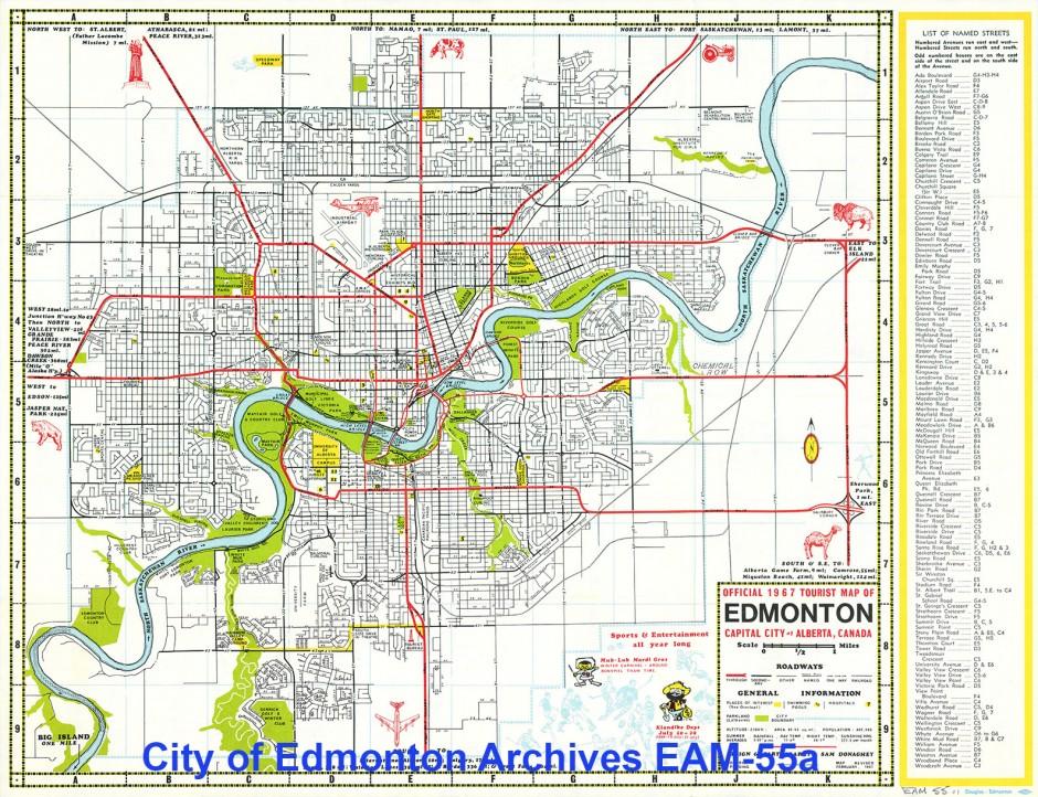 City Of Edmonton Maps Breaking the Grid: Edmonton's City Beautiful Plan   Spacing Edmonton City Of Edmonton Maps