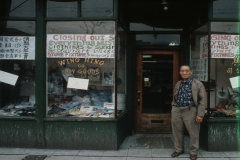 'Closing out sale. Everything must go.' Lin Bei-lian, owner of Wing Hing Dry Goods. Photo by Paul Yee (April 1981), City of Vancouver Archives AM1523-S6-F72-: 2008-010.0489.